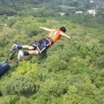 Carlos Fontes haciendo Bungee Jumping